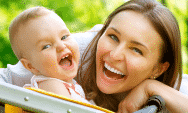 Laughing-Mother-And-Baby-outdoors-thumb