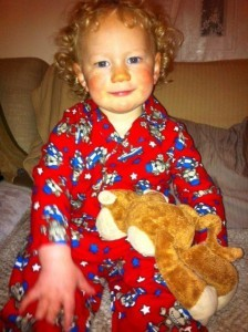 Ready for Bed in Flannel PJ's!